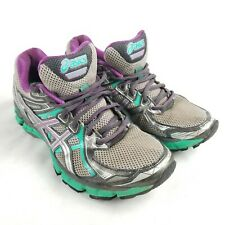 Womens Asics GT-2000 Titanium Purple Emerald Trail Running Shoes T3Q7N Size 9 US