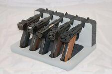 Pistol 5 Gun Rack Stand Luger Ruger Gray Cabinet Safe