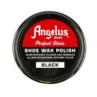 Angelus Shoe Boot Polish Shine Leather PASTE WAX Protector Waterproof 3 Oz Can For Sale