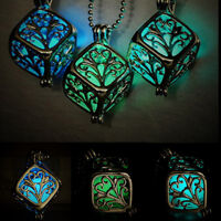 Hollow Tree of Life Necklace Pendant Luminous Glow In The Dark Locket Jewelry