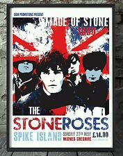 The stone roses poster. Celebrating famous venues and gigs. Specially created.