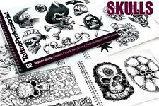 "PRO REALISTIC SKULLS FLASH BOOK 2 Tattoo Arties Supply 82-Pages ""Skulls"" Design"