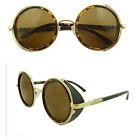 50s Gafas Redondas Steampunk De Sol Cyber Estilo Retro Vintage Blinder
