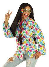 HIPPIE hippy 70s FANCY DRESS unisex disco SHIRT white