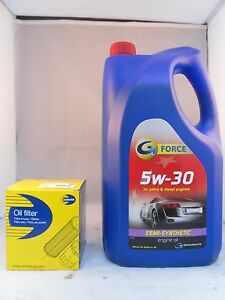 Ford Focus C-Max 1.8 Petrol Oil Filter + 5L 5w30 Engine Oil Service Kit 03 to 07