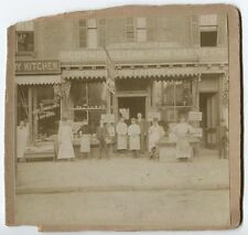 ANTIQUE PHOTO FISH MARKET STOREFRONT WITH EMPLOYEES OUT FRONT.