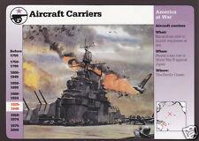 AIRCRAFT CARRIERS USS Hornet Art View 1998 GROLIER STORY OF AMERICA CARD