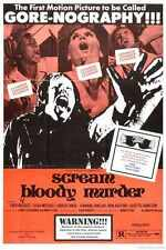 Scream Bloody Murder Poster 01 Metal Sign A4 12x8 Aluminium