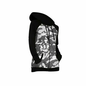 Girls Boys Grey Black Camo Camouflage Army Jacket Hoodie Jumper Age 3-16 Years