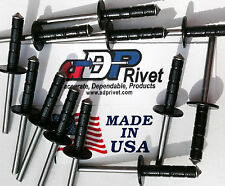 "Medium head XXL long Multi-grip rivet up to 5/8"" BUY 200 get 50 FREE BLACKrivets"