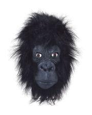 Mens Scary Black Gorilla King Kong Monkey Ape Jungle Zoo Animal Overhead Mask