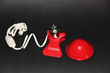 lampe champignon a pince retro vintage neuve rouge