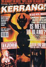 Kerrang! Oct 1 1994 Slayer, Genitorturers, Carcass EX VF618