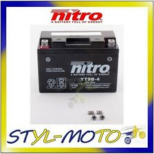 YT9B-4 = YT9B-BS BATTERIA BATTERY NITRO AGM GEL YAMAHA YP 400 MAJESTY 2010