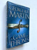 SIGNED 1996 George R.R. Martin A Game of Thrones NEW UNREAD FINE HCDJ
