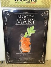 Bloody Mary - SMALL - Tin Metal Wall Sign *Top 100*