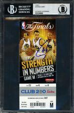 Stephen Curry Autographed 2015 NBA Finals Ticket Warriors Beckett 10246690