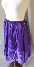 Marithe Francois Girbaud Purple Lagenlook Skirt Size Medium