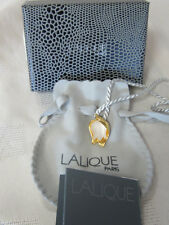 LALIQUE #7608200 LILY OF THE VALLEY LEAVES GOLD NECKLACE BRAND NEW IN BOX F/SHIP
