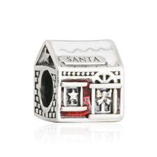 Authentic Pandora Charm 792003ENMX Santa's Home Red & White Enamel Bead