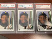 3 X 1989 Upper Deck Ken Griffey Jr. #1 PSA 8 ⚾️ Baseball ⚾️ Nice Investment HOF!