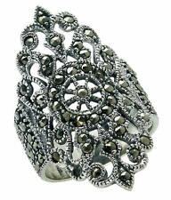 925 ECHT SILBER *** Großer Markasit Ring, Größenauswahl