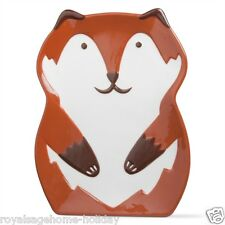 204775 Tag Franny Fox Appetizer Plate Kitchen Hoiday Fall Halloween Decor