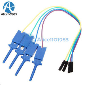 4PCS Test Clamp Wire Hook Test Clip for Logic Analyzer Electronic Components