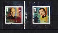 ££££££££££££££££££££2020 - STARTREK. Stamps from Booklet. VFU