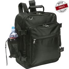 Black Motorcycle Trunk Sissy Bar Bag Backpack Rear Hook Water Bottle Holder Book