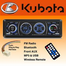 Direct Plug Amp Play Kubota Tractor Radio Am Fm Bluetooth Rtv 1100 Rtx 1100c B2650
