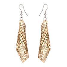 New Women Metal Geometry Tassel Earrings Long Hook Dangle Ear Stud Gift Jewelry