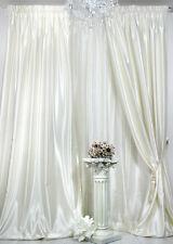 1 Satin Fertig-Vorhang *champagner* 150x245 cm hochwertiger Satin weich fließend