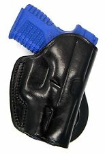 "Premium Black Leather PADDLE Holster for KIMBER UC II ULTRA CARRY 3"" 1911"