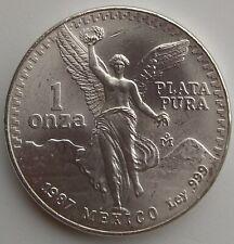 1987 Mexican Libertad 1 Onza Plata Pura