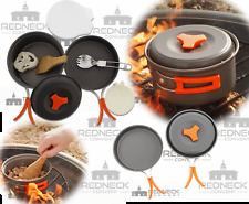 Camping Cookware Set Campfire Pot Pan Utensils – Camp Cooking Backpack Mess Kit