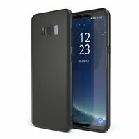 Slim Cover für Samsung Galaxy S8 TPU Softcase Silikon Hülle Schwarz