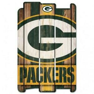 """Green Bay Packers Wood Fence Sign 11""""x17"""" [NEW] NFL Wall Man Cave Fan Wall"""