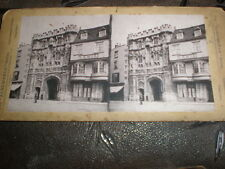 Stereoview photograph street view cathedral gate by Albemarle c1880s