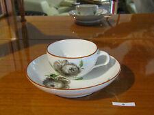 """5x kleine Kaffeetasse mit Untertasse """"Schwarze Rose"""" Meißen 1774-1815 top rar sf"""