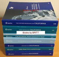 2018-2019 Barbri Bar Exam CALIFORNIA almost FULL SET, Conviser CAT CPT NEW- Free