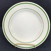 "Buffalo China Vintage Green Stripe Bread Plate 6 5/8"" Restaurant Ware USA"