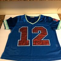Derek Heart Womens Sz XL Jersey Shirt Top VNeck Blue Red Teal 100% Polyester