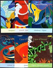 THEME ART MODERNE 6 ÉTIQUETTES DE VIN DIFFÉRENTES NEUVES - PORT OFFERT