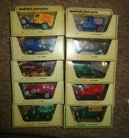 JOB LOT  Matchbox Yesteryear x 10   VANS & TRUCKS  STRAW  YELLOW BOXES OXO MAIL