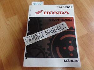 2015 2016 2017 2018 HONDA SXS500M2 Service Manual
