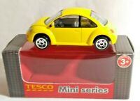 REALTOY TESCO MINI SERIES DIECAST 1:57 VOLKSWAGEN VW NEW BEETLE - YELLOW - BOXED