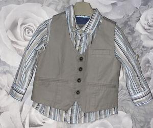 Boys Age 6-9 Months - Next Shirt & Waistcoat Set
