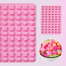 Silicone 66 Mini Fruits Chocolate Candy Mould Cookies Ice Cube Tray Jelly Mold