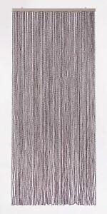 Türvorhang Raumteiler BEAD Perlenvorhang 94 Stränge Fliegenvorhang grau 90x200cm